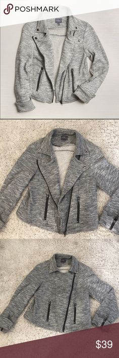 Market & Spruce - Sweater Moto Jacket Great moto jacket sweater by Market and Spruce from Stitch Fix. Great condition! Anthropologie Jackets & Coats