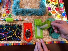 Alzheimer's quilt also called fidget blanket is a | Etsy Nursing Home Activities, Elderly Activities, Sensory Activities, Winter Activities, Physical Activities, Christmas Activities, Outdoor Activities, Sensory Blanket, Baby Sensory