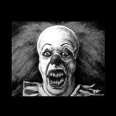 Print 8x10  Pennywise  IT Clown Stephen King Horror by chuckhodi