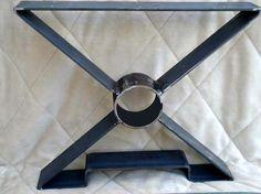 DIY table legs 15 OR 18 X shaped Steel table legs metal table by MooseheadMetals