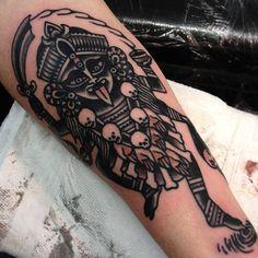 Kali by Joe Ellis Kali Tattoo, Get A Tattoo, Song Tattoos, Body Art Tattoos, Tatoos, Tattoo Art, Little Tattoos, Tattoos For Guys, Hindu Tattoos