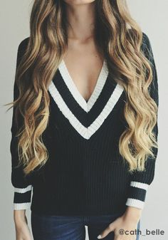 sweater & hair