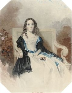 Horatia Nelson, age 44. Mrs Horatio Ward, by William Buckler, 1844