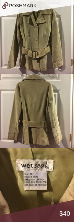 100% brown leather trench jacket 100% brown leather trench jacket in great condition ( like new)** I accept reasonable offers.** Wet Seal Jackets & Coats Trench Coats
