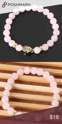 Rose Quartz Buddha Bracelet 💕 Rose Quartz Buddha Bracelet 💕 The LO💗E stone! Bundle with other items for discount Jewelry Bracelets