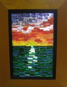 Stained Glass Mosaic Art Ocean Sunset by AimeezArtz on Etsy.