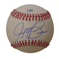 Jaff Decker Autographed Rawlings ROLB1 Leather Baseball, Proof Photo