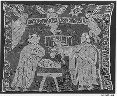 Panel Date: 15th century Culture: German Medium: Embroidered net Dimensions: L. 24 x W. 19 inches 61.0 x 48.3 cm Classification: Textiles-Laces