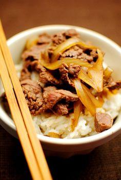 Homemade yoshinoya beef bowl. Hubby is going to love this