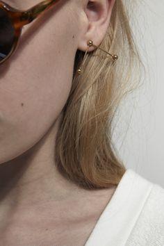 KATRINE KRISTENSEN, Bubble Sunray Earring, Gold Plated |