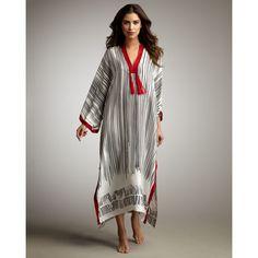 Oscar de la Renta Striped Caftan - ShopStyle Cover-ups Abaya Fashion, Muslim Fashion, Boho Fashion, Fashion Dresses, Fashion Design, Punk Fashion, Lolita Fashion, Kaftan Abaya, Caftan Dress