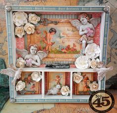 Sweet Sentiments Mini Shadowbox Tutorial - starrgazer creates - with Ingvild Bolme resins