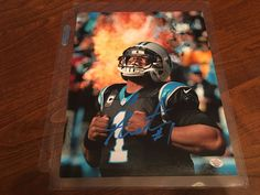 Cam Newton Carolina Panthers Hand Signed Autographed 8x10 Photo Superman Pose