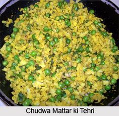 Chudwa mattar ki tehri is a snack item loaded with nutrition. It is mostly consumed in the Indian states like Uttar Pradesh and Maharashtra. For the recipe visit the page. #indianfood #recipes #vegetarianfood