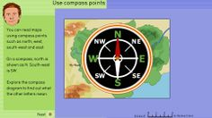 Use compass points to explore the Rainforest