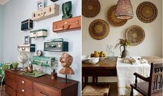expón tu colección de maletas en la pared