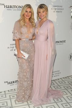Pretty pastels: Adding to the glamour was socialite Hofit Golan, who sent pulses racing in...