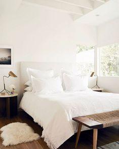 Cozy, white bedroom