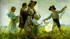 View Children playing with a kite by Adam Emory Albright on artnet. Browse upcoming and past auction lots by Adam Emory Albright. Kites Craft, Go Fly A Kite, Kite Flying, Interesting Faces, Beauty Art, American Artists, American Realism, Art And Architecture, Kids Playing