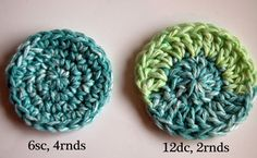 Crochet-Circles and other basic shapes plus link to Magic Circle technique