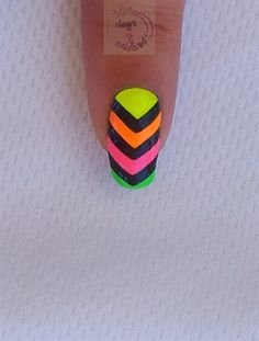 Neon chevron by daysofnailartnl - Nail Art Gallery nailartgallery.nailsmag.com by Nails Magazine www.nailsmag.com #nailart