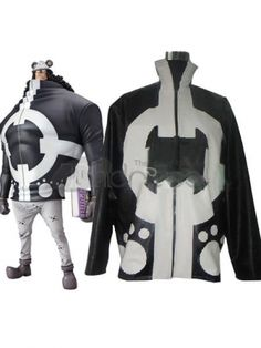 White Black One Piece Bartholemew Uniform Cloth Cosplay Costumes. Wear this and to be a good man enjoy the life as a bear.