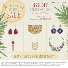 Announcing c+i's Summer Solstice Sale! #summersale2014 #candisale #chloeandisabelsale  www.chloeandisabel.com/boutique/lapatchola