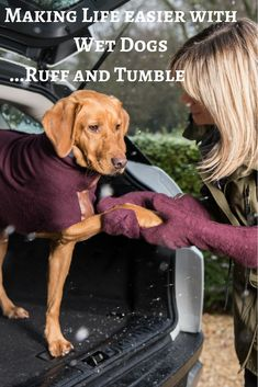 Ruff and Tumble Double thickness cotton towelling Dog drying coats 32717d97e