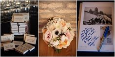 """""""Sparks Flew"""" cute matchbook idea for guests. Jill Tiongco Photography 