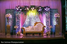 Delightful indian wedding reception stage decor https://www.maharaniweddings.com/gallery/photo/145405