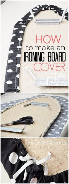Sewing Projects for The Home - How To Make An Ironing Board Cover  -  Free DIY Sewing Patterns, Easy Ideas and Tutorials for Curtains, Upholstery, Napkins, Pillows and Decor http://diyjoy.com/sewing-projects-for-the-home