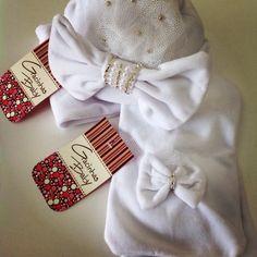 Kit touca e cachecol para bebês!