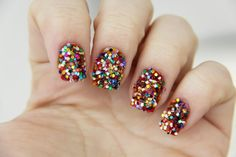 Glitters (Good luck to take it off!) #nails #glitters #multicolor