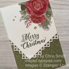 Stampin' Up! Christmastime is Here Suite table design card by Chris Smith