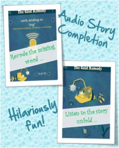 SparkleFish Free App - hilarious audio story completion game. Great for kids learning words while having fun. #free #kidsapps #vocabulary #kids #apps