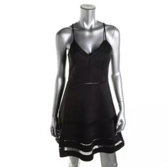 NWT*PARKER Black Racerback Spaghetti Strap Dress Manufacturer: Parker Size: XS Size Origin: US Manufacturer Color: Black Condition: New with tags Style Type: Casual Dress Collection: Parker Silhouette: A-Line Sleeve Length: Adjustable Straps Closure: Hidden Side Zipper Dress Length: Knee-Length Total Length: 34 Inches Bust Across: 16 Inches Waist Across: 13 1/2 Inches Material: Rayon/Cotton/Elastane/Polyester Fabric Type: Rayon Specialty: Lined Parker Dresses