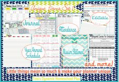 Home School Forms- downloads- 1.Weekly Tracking/ 2.Attendance Charts/ 3.Year Around Homeschool Schedules/ 4.Curriculum Resource Checklist/ 5. Mission Statement/ 6.Curriculum Weekly Planning Forms/ 7.Reading Log/Reading List/ 8. Day at a Glance Forms/  9. Notes or Journal Pages/ 10.High School Planning Pages