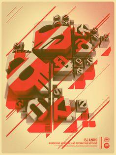 3d- typographic poster.