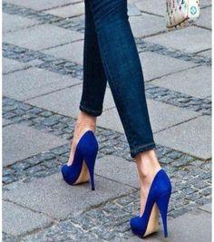 Classy Blue Heels