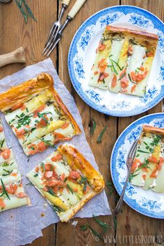 Plaattaart met met witte asperges en gerookte zalm Vegetarian Recipes, Healthy Recipes, Healthy Food, Flatbread Pizza, Savoury Baking, Frittata, Fish Recipes, Lunches, Vegetable Pizza