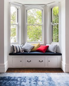 The ideal space to curl up with a good book. the window seat in our Lugar House project was perfect use of this window space in one of the children's bedrooms 👌🏻 Kids Room Design, Room Kids, Bay Window, Window Seats, My New Room, Beautiful Bedrooms, Victorian Homes, Home Projects, Living Room