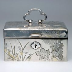 A Export Sterling Box, Early Century, Barbie Bedroom, Tea Caddy, Casket, Asian Art, Pink Grey, Antique Silver, Highlights, Decorative Boxes, Auction