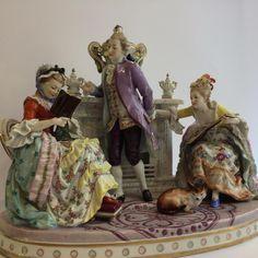 Volkstedt-Rudolstadt Grande Composition En Porcelaine