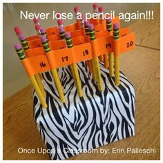 Once Upon A Classroom: I don't have a pencil Mrs. Palleschi!!!