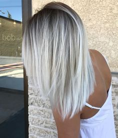 Light ash blonde is perfect for this winter! Now that winter is here, I thought it would be fun to showcase some of my favorite shades of winter hair color. #haircolor