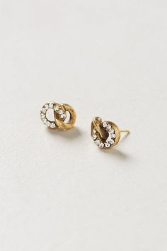 knotted stud earrings / anthropologie