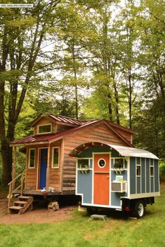 This is a 10ft Tiny House on Wheels built by Chris of Tiny Industrial. It's a 40 sq. ft. micro cabin on a trailer and it's listed for sale on eBay. Related: Man Builds 145 Sq. Ft. Tiny …