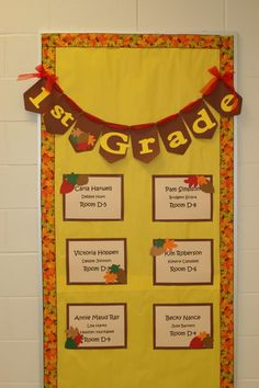 autumn bulletin board display