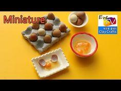 미니어쳐 깨진 계란 생달걀 계란판 만들기 아이클레이 폴리머클레이 레진 계란 미니어처 포핀쿠킨 식완 Broken Egg Tutorial, Miniature Food Tutorial - YouTube