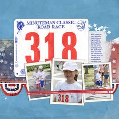 Love how the race number was included on this layout!